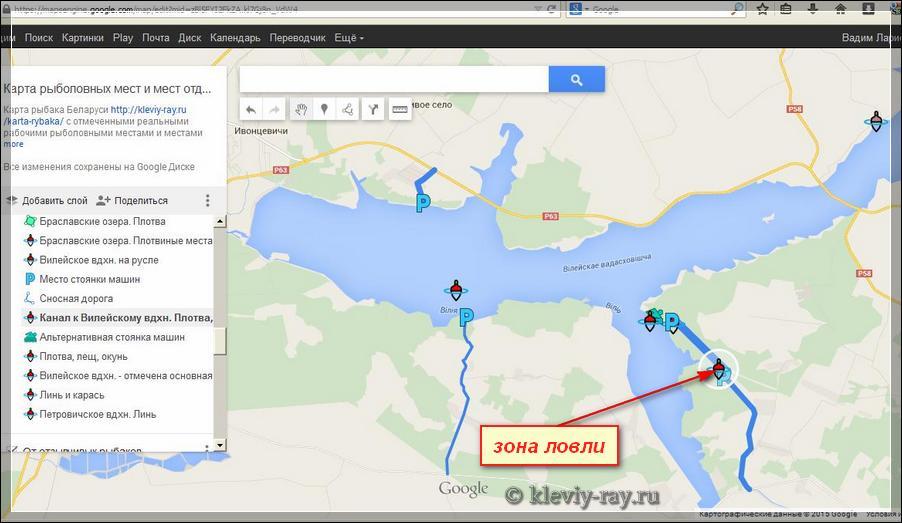 карта гомельской области для рыболовов