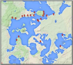 Карта кемпингов Браславских озер